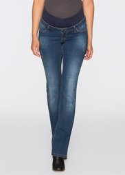 Для будущих мам: джинсы Bootcut с дополнительным поясом для животика (синий) Bonprix