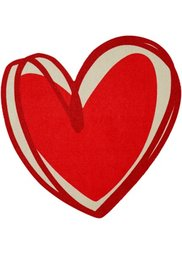 Коврик Сердце (серый) Bonprix