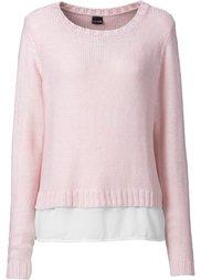 Пуловер (нежно-голубой/цвет белой шерст) Bonprix