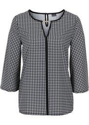 Блуза с принтом (белый/черный с узором) Bonprix