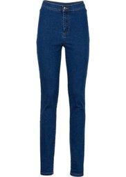 Абсолютный хит: джинсы Skinny с завышенной талией (темный деним) Bonprix