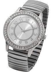 Часы на растягивающемся браслете (розово-золотистый) Bonprix