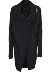 Мода для беременных и кормящих мам: пончо/вязаный кардиган (серый меланж) Bonprix