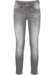 Абсолютный хит: джинсы с вышивкой (нежно-голубой выбеленный) Bonprix