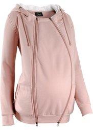 Мода для беременных: триктажная куртка с защитной вставкой для малыша (антрацитовый меланж) Bonprix