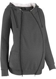 Мода для беременных: триктажная куртка с защитной вставкой для малыша (винтажно-розовый меланж) Bonprix
