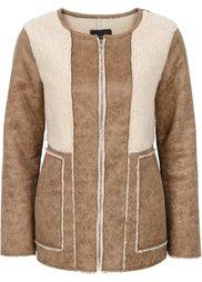 Куртка в дизайне под замшевую (серый) Bonprix