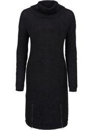 Вязаное платье (цвет белой шерсти) Bonprix