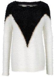 Пушистый пуловер (темно-синий/фуксия) Bonprix