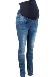 Мода для будущих мам: джинсы-скинни с повреждениями (темный деним) Bonprix