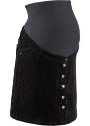 Мода для беременных: вельветовая юбка до колена (светло-кофейный) Bonprix