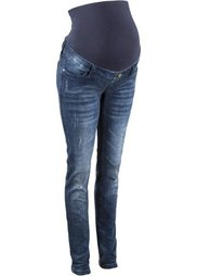 Мода для будущих мам: джинсы-скинни с повреждениями (синий) Bonprix