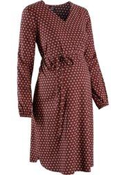 Мода для беременных: платье с принтом (черный) Bonprix