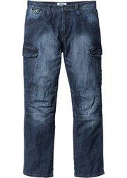 Джинсы Loose Fit Straight, cредний рост (N) (голубой «потертый») Bonprix