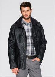 Куртка со съемным воротником (черный) Bonprix