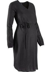 Мода для беременных: платье с принтом (кирпичный/черный/белый с узоро) Bonprix