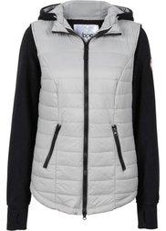 Жилетка с интегрированной флисовой курткой (черный) Bonprix