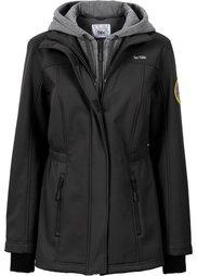 Удлиненная куртка-софтшелл 2 в 1 (темно-изумрудный) Bonprix