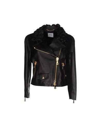 Черная кожаная куртка moschino ermanno scervino в пдф