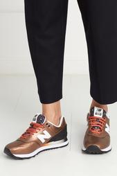 Кроссовки из металлизированной кожи 574 New Balance