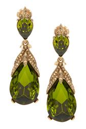 Серьги с кристаллами Oscar de la Renta
