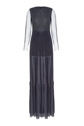 Платье с полупрозрачной тканью Viktoria Irbaieva