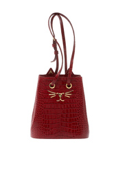 Сумка из лакированной кожи Feline Bucket Bag Charlotte Olympia