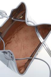 Сумка из металлизированной кожи Feline Bucket Bag Charlotte Olympia
