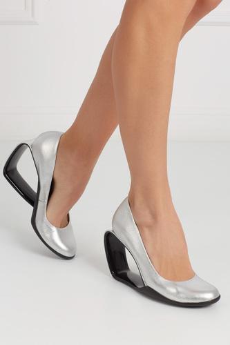 Туфли из металлизированной кожи Moblus Pump