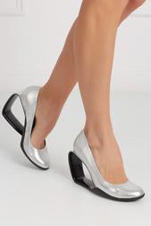 Туфли из металлизированной кожи Moblus Pump United Nude