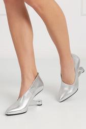Туфли из металлизированной кожи Eamz Ellie United Nude