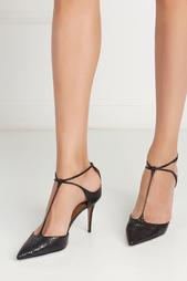 Туфли из кожи змеи Scarlet Aquazzura