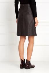 Кожаная юбка Sepai Hugo Boss