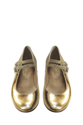 Туфли из металлизированной кожи Bonpoint