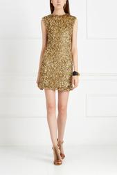 Шерстяное платье с пайетками A LA Russe