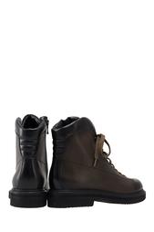 Ботинки из глянцевой кожи Santoni