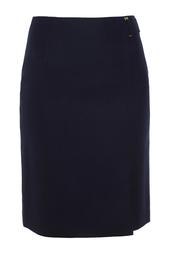 Шерстяная юбка Vyflena Hugo Boss