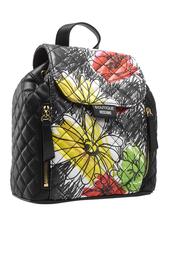 Стеганый рюкзак с принтом Boutique Moschino