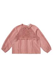 Шелковая блузка Amber Caramel