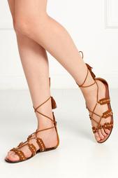 Кожаные сандалии Tulum Flat Aquazzura