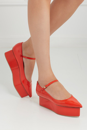 Туфли из глянцевой кожи Delpozo