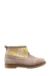 Замшевые ботинки с мехом пони Trip Boots Mid Pom Dapi