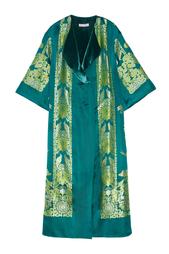 Шелковый халат Irma de Flore Sinaze