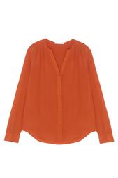Шелковая блузка Rosaline Hugo Boss