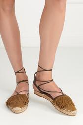 Замшевые сандалии Pocahontas Aquazzura