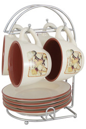 Набор: чашки, блюдца TERRACOTTA