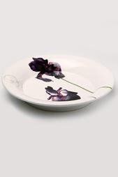 "Суповая тарелка ""Черный ирис"" Ceramiche Viva"