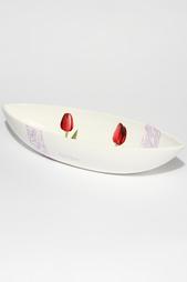 """Блюдо овальное """"Тюльпаны"""" Ceramiche Viva"""