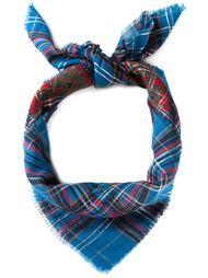 шарф с клетчатым узором Yves Saint Laurent Vintage