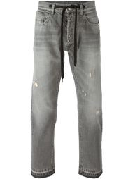джинсы с потертой отделкой Andrea Pompilio